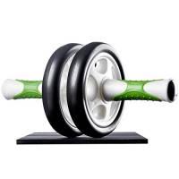 Ultrasport Attrezzo per addominali AB Roller / Trainer AB incl. supporto per le ginocchia, allenamento addominali per uomini e donne, anche per persone anziane, trainer muscolare pieghevole