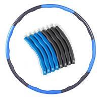 Hula hoop ponderato per adulti e bambini, hula hoop intelligenti per dimagrire, hula hoop ponderato regolabile da 1 kg per l'esercizio, hula hoop fitness (Blu)