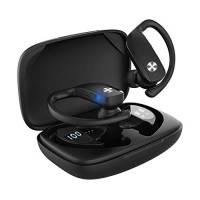 AriscorpCuffieBluetooth,Auricolari Bluetooth Bassi Potenziati SenzaFiliconMicrofono,Cuffie Wireless Sport in Ear,30OrediRiproduzione,IPX5ImpermeabileBluetoothV5.0,Portatili