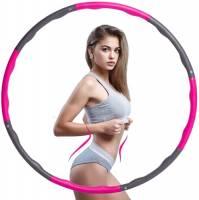 U/S Hula Hoop Fitness, Professionale Hula Hoop per Adulti per Dimagrire Design Ondulato 8 Sezioni Rimovibili Hoola Hoop in Schiuma Larghezza Regolabile