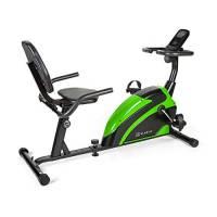KLAR FIT Klarfit Relaxbike 6.0 SE - Ergometro Reclinabile, Cardiobike, Cyclette, Volano: 12 kg, Resistenza Magnetica 8 stadi, Supporto Tablet, PulseControl, SilentBelt Drive, Max. 100 kg, Nero/Verde