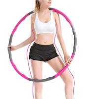 Hula Hoop, Hula Hoop Adulti Fitness per Design Staccabile a 8 sezioni, Hula Hoop Adatto ai Adulti e Bambini, per Fitness Sport casa Ufficio modellatura