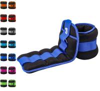REEHUT Pesi da Caviglia/Polso (1 Paio) con Cinturino Regolabile per Fitness, Esercizio Fisico, Passeggiate, Jogging, Ginnastica, Aerobica, Palestra - Blu – 2x0,9kg