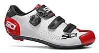 SIDI Scarpe Alba 2, Scape Ciclismo Uomo, Bianco Nero Rosso, 42