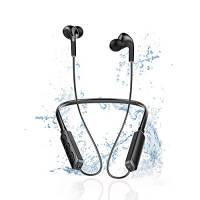 Cuffie Bluetooth Sport Potenziati,Dispone Di Bluetooth 5.0,Auricolari Bluetooth Senza Fili Magnetici Con Microfono e Comando a 3 Pulsanti, Fino a 15h Di Autonomia, Compatibile Con Più Dispositivi