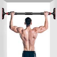 Kimimara Barra per Trazioni, Sbarra per Trazioni da Porta 70-95cm Carico 200kg, per la Parte Superiore del Corpo Esercizio Indoor di Fitness A Casa