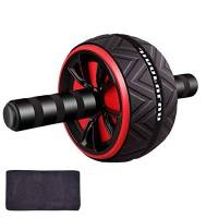 AB Roller Addominali, AB Wheel Roller Addominali, Addominali AB Wheel, Core Abs Roller, Rullo per Addominali, per Home Gym Donne Uomini Core Strength Addestramento Addominale (Nero)