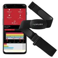 LIVLOV V6 Sensore Di Frequenza Cardiaca - ANT+ / Bluetooth - Sensore di FC Impermeabile con Fascia Toracica Morbida per Palestra, Ciclismo, Corsa, Attività Sportive all'Aperto