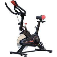 homcom Cyclette Professionale Allenamento Aerobico Fitness Sella Regolabile con Monitor Acciaio 102 × 47 × 114cm