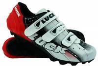 LUCK Zapatilla de Ciclismo Extreme MTB, con Suela de carbono Y 3 velcros para Una sujeción Perfetto, Rosso. (44 EU)