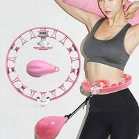 Kasimir Hula Hoop Intelligente Fitness con Calcolatrice & Rullo Rotante a 360 °, Design Estensibile e Staccabile & Anti Goccia per Perdita di Peso, Fitness, Massaggio