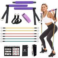 VENUSFIT attrezzi palestra I attrezzi palestra casa   attrezzi barra pilates   kit palestra I fitness donna attrezzi casa   Kit yoga portatile per bastoncini da Pilates I Guida di istruzioni