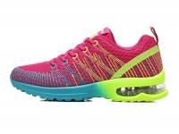 NEOKER Donna Scarpe da Running Sportive Corsa Sneakers Ginnastica Outdoor Multisport Shoes Rosso 37
