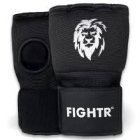 FIGHTR® Premium Boxe Bende Guanti - calzata veloce e alta stabilità | Coprimani in gel per boxe, MMA, Muay Thai e arti marziali | con benda lunga (nero, S)