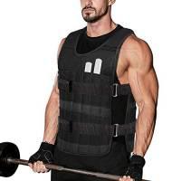 DOBEN Gilet sportivo con pesi, 10 kg, resistente, Oxford, con pesi in metallo rimovibili, per uomini e donne, corsa, peso e allenamento di forza, jogging