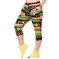 Zumba Harem Pantaloni Capri Donna da Allenamento Activewear Pantaloni Tuta Donna Morbidi, Groovin' Green 0, XS