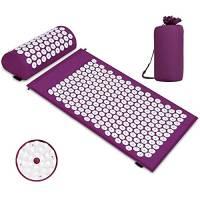 Tappetino per agopressione con cuscino per alleviare il dolore corporeo e lo stress Kit (porpora)