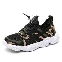 Scarpe Sportive Bambino Sneakers da Corsa Ragazzo Mesh Running Bambini Calzature Ginnastica Fitness Leggera All'aperto Ragazzi Unisex Camuffare 28