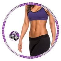 Gesofy Hula Fitness Hoops Cerchio per Fitness Hula Hoop Adulti per Esercizio Fitness in 8 sezioni, Adatto per Fitness, Sport e Modellamento Addominale